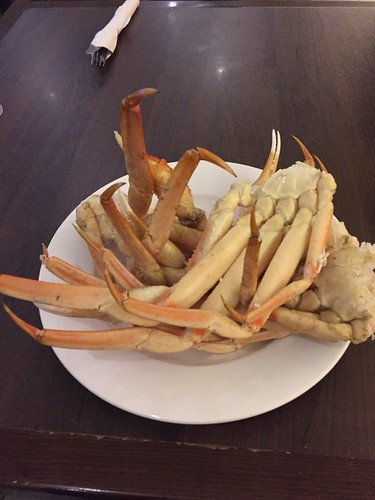 Mei's crab legs at the all-you-can-eat buffet.