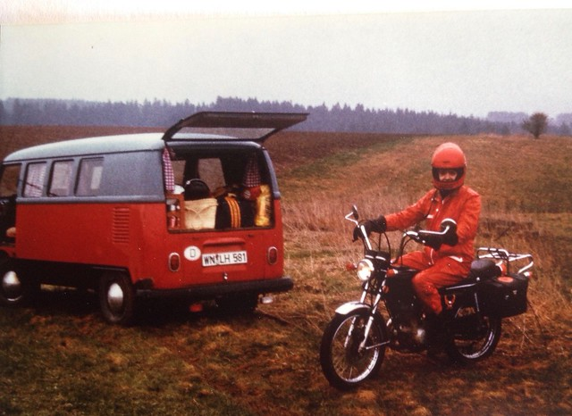 My Honda CB125S and our VW T1 Buli