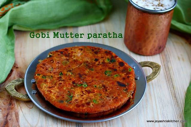 Gobi peas paratha