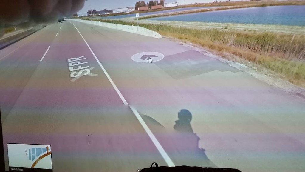 Managed land and water, and Google shadow at #hwy17    near Wilson Ave. #ridingthroughwalls