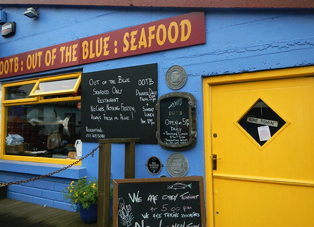 Brightly Colored Seafood Cafe in Dingle, Ireland