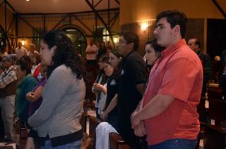 Presencia juvenil en la misa
