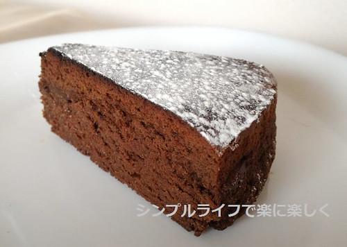 チョコレートケーキ、カット