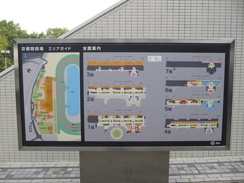 京都競馬場のエリアとフロアのガイド