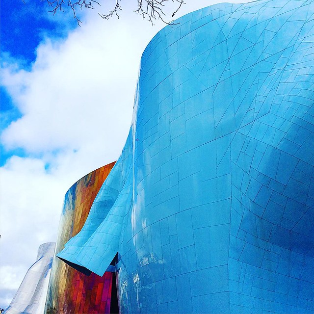 Outside the EMP this afternoon.
