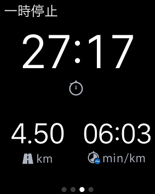 Time, laps, distance while running on Apple Watch