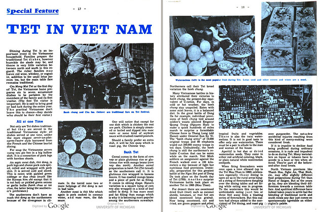 VIETNAM Bulletin - FEBRUARY 1st, 1975 (2) - Special Feature:  TET IN VIETNAM