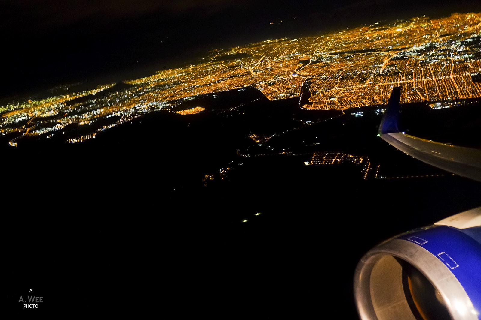 Night lights of Santiago