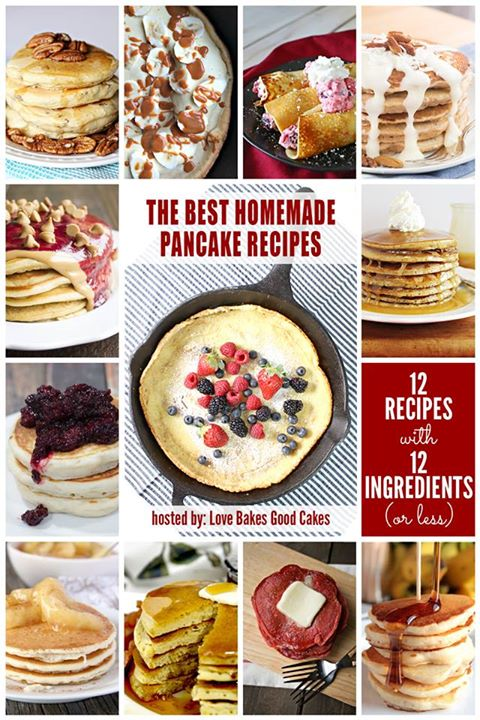 #12bloggers - 12 Best Homemade Pancake Recipes