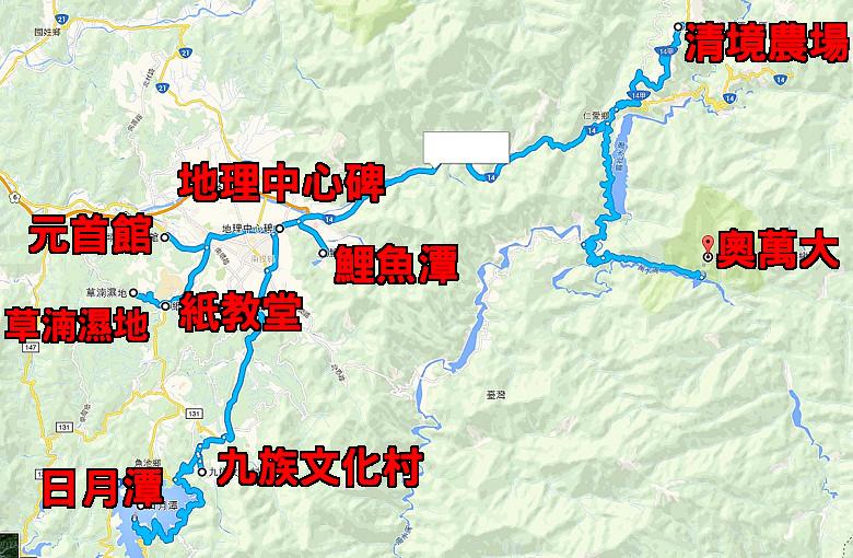茉莉民宿南投埔里一日遊地圖
