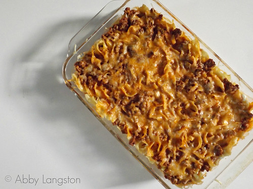 Cheesy Baked Beef and Noodles