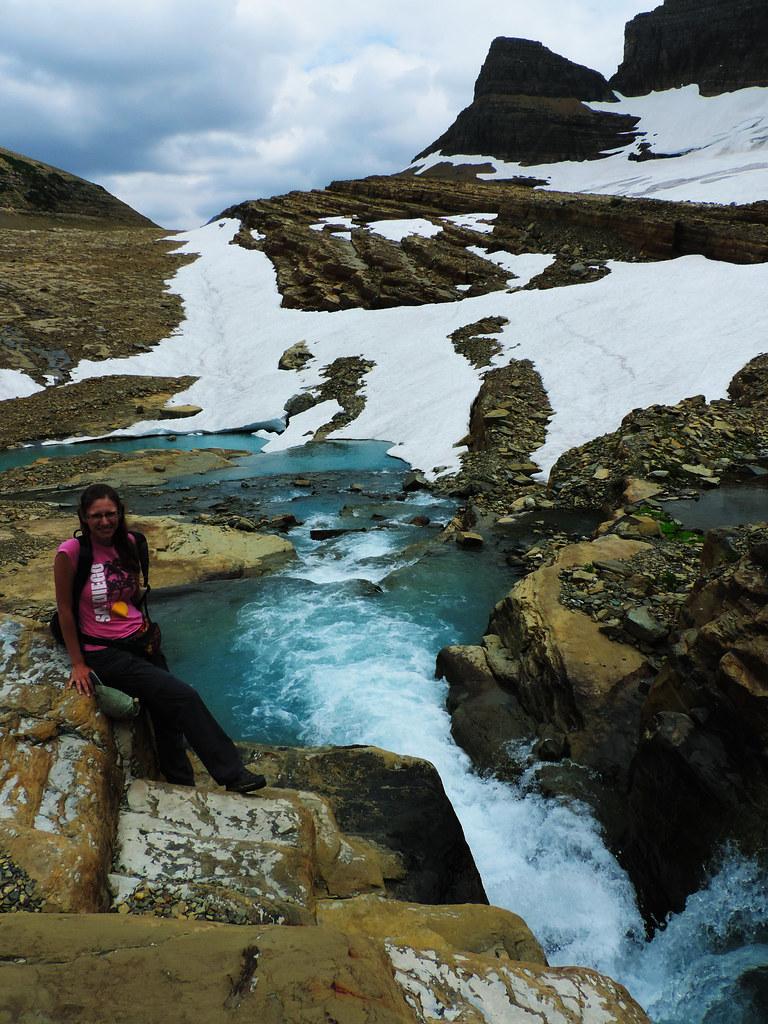 Hiking to Grinnell Glacier, Glacier National Park, Montana
