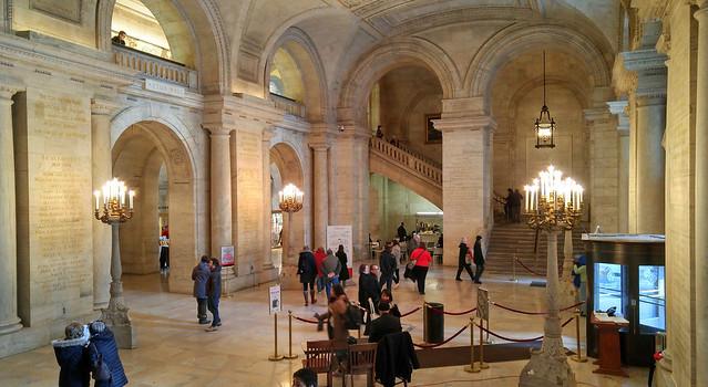Main lobby New York Public Library, 2-6-2016