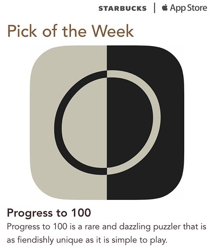 Starbucks iTunes Pick of the Week - Progress to 100