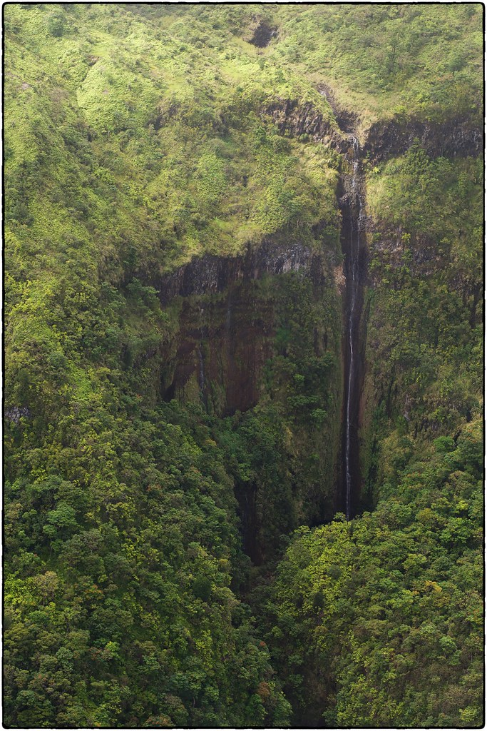 Drought-Stricken Waterfall, Maui, Hawaii, February 13, 2016
