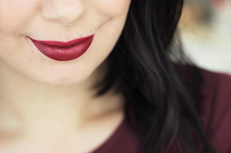 Dark  Burgundy Lips For Winter - Minnebelle-4134