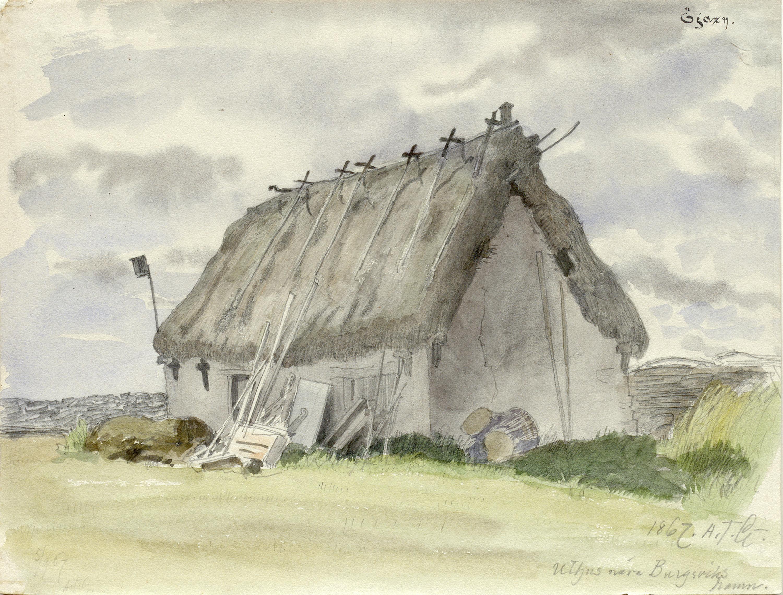 Storehouse in Burgsvik, Gotland, Sweden