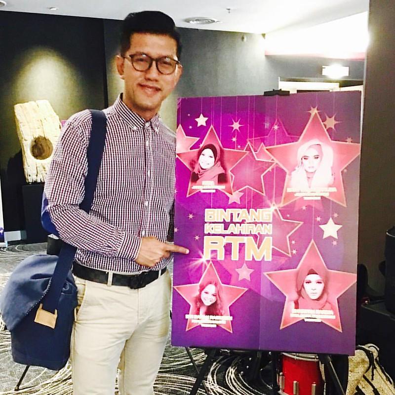 Petang Ini Budiey Hadir Buat Liputan Di Santai Bersama Media Di Finalis Bintang Rtm 2016. #Bintangrtm2016