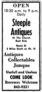 2016-3-21. Steeple Antiques ad