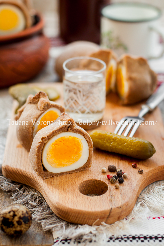 Kokurki, Rye Dough Wrapped Hard Boiled Eggs