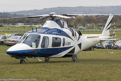 G-DMPI - 1998 build Agusta A109E Power, visiting the 2016 Cheltenham Festival