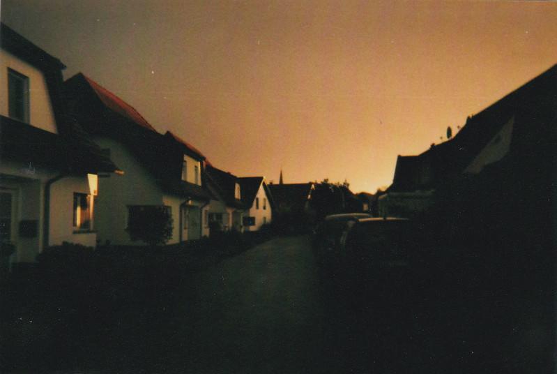 Analog Sonnenuntergang