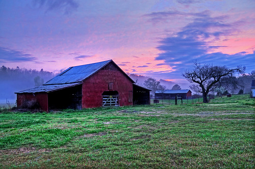 Red Barn Sunset