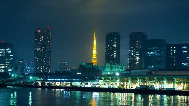 勝どきから東京タワーの眺める