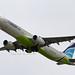 Air Busan Airbus 321-200 departing KIX (HL7722)