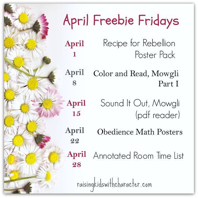 April Freebie Fridays