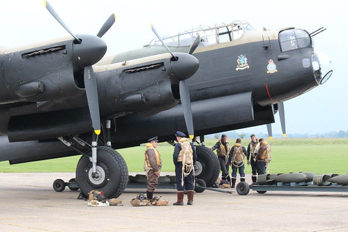 """IMG_1977   Avro Lancaster NX611 """"Just Jane"""", with Bomber Command Re-Enactors"""