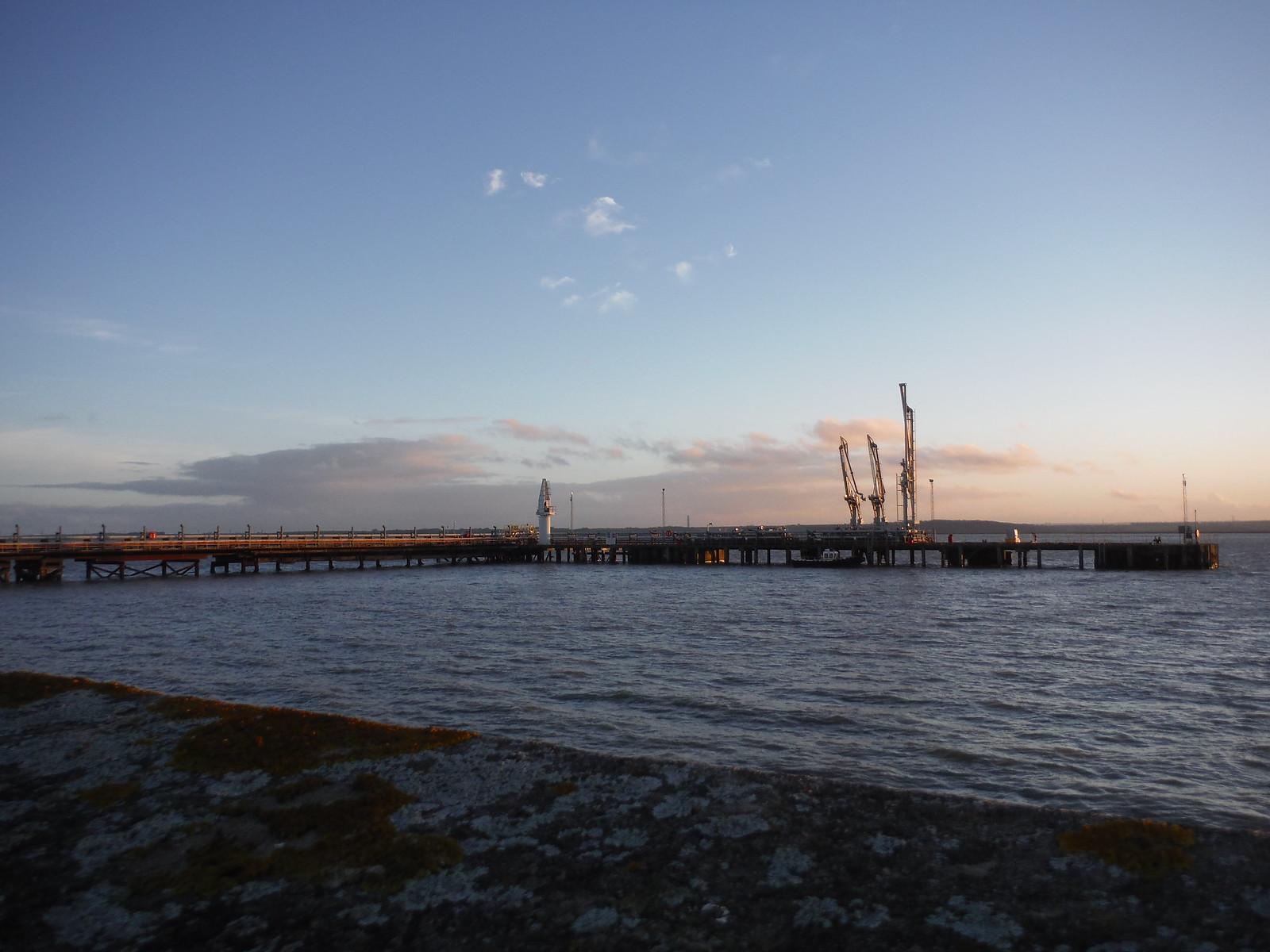 Jetty of Oikos Oil Product Terminal, Canvey Island SWC Walk 258 Benfleet Circular (via Canvey Island)