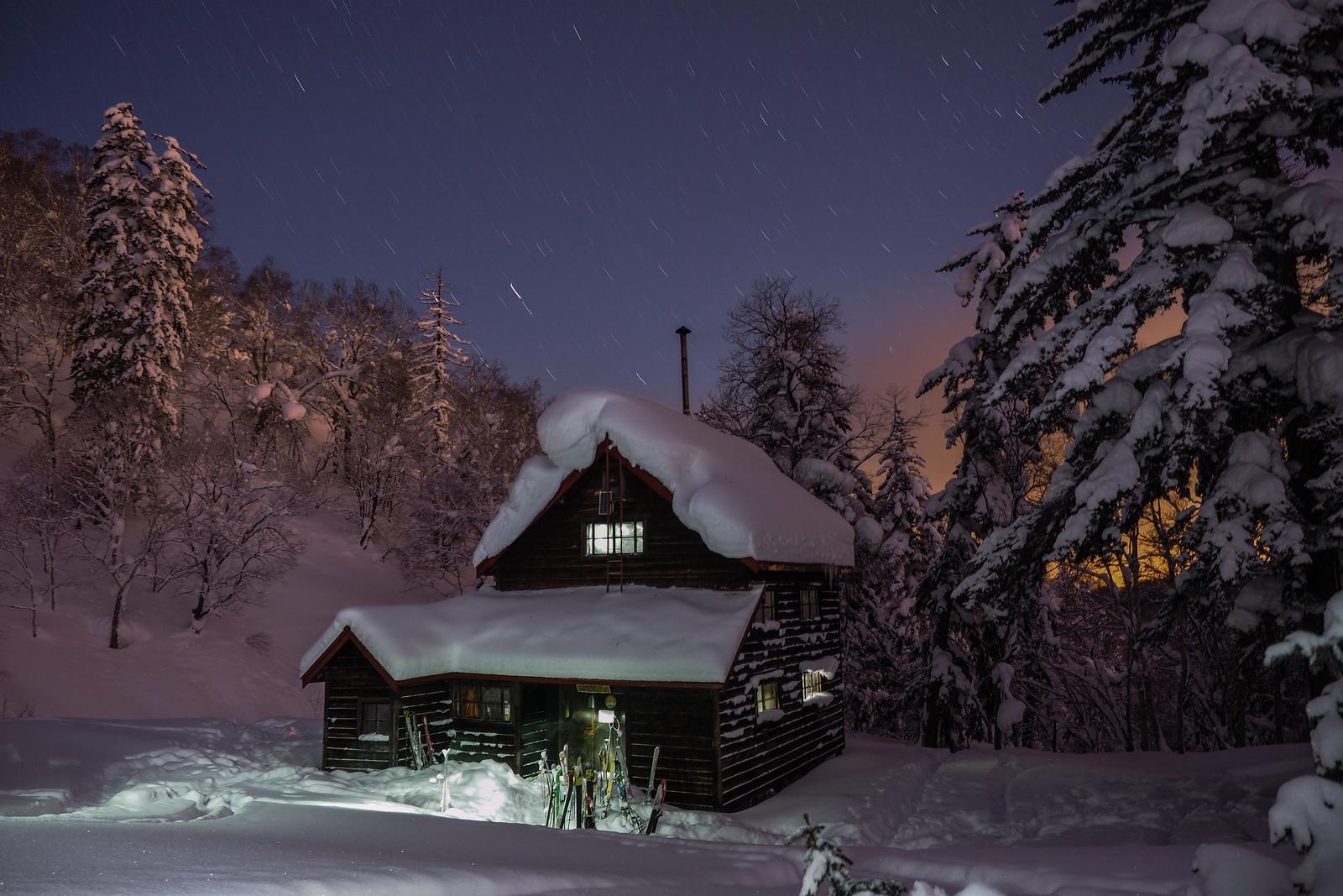 Yama-no-Ie Hut near Mt. Okuteine (Hokkaido, Japan)