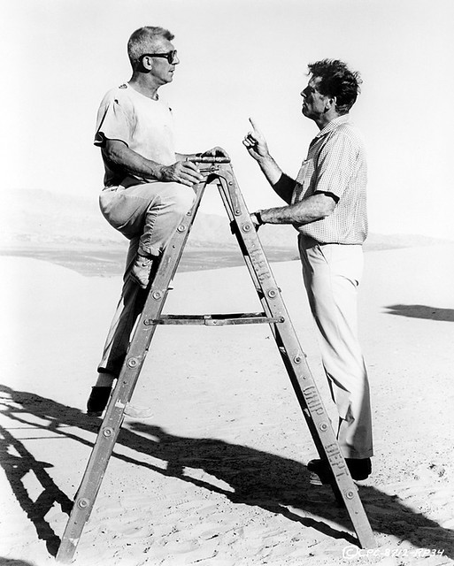 The Professionals - backstage 1 - Richard Brooks and Burt Lancaster