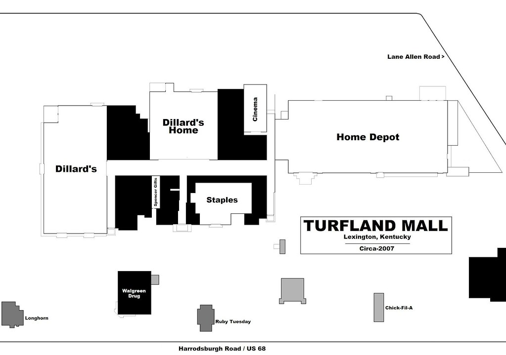 Turfland Mall Map -- Lexington, KY