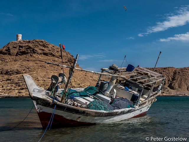 Fishing boat in Sur