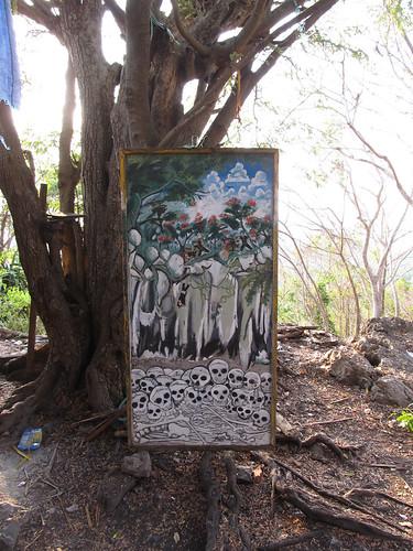 La campagne de Battambang: tableau représentant les tortures perpétrées par les Khmers Rouges à Phnom Sampeu