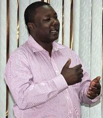 Ben Lukuyu opening the stakeholder meeting