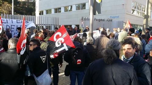 #pressingICAM: Es manifesten a l'ICAM contra les altes injustificades convocades per CGT Bus 4
