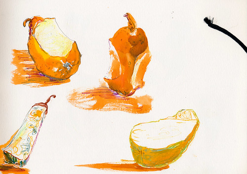 Sketchbook #94: Tasting pears to pick a favorite