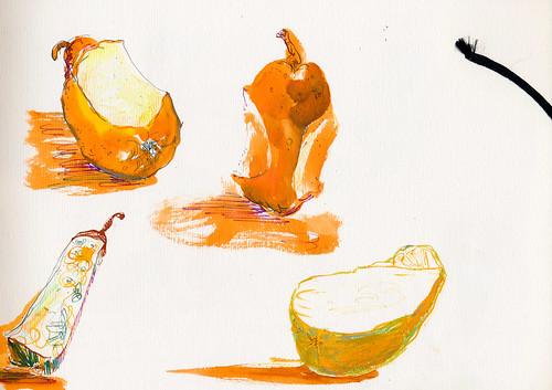 Sketchbook #94: Tasting pears to pick a favorite