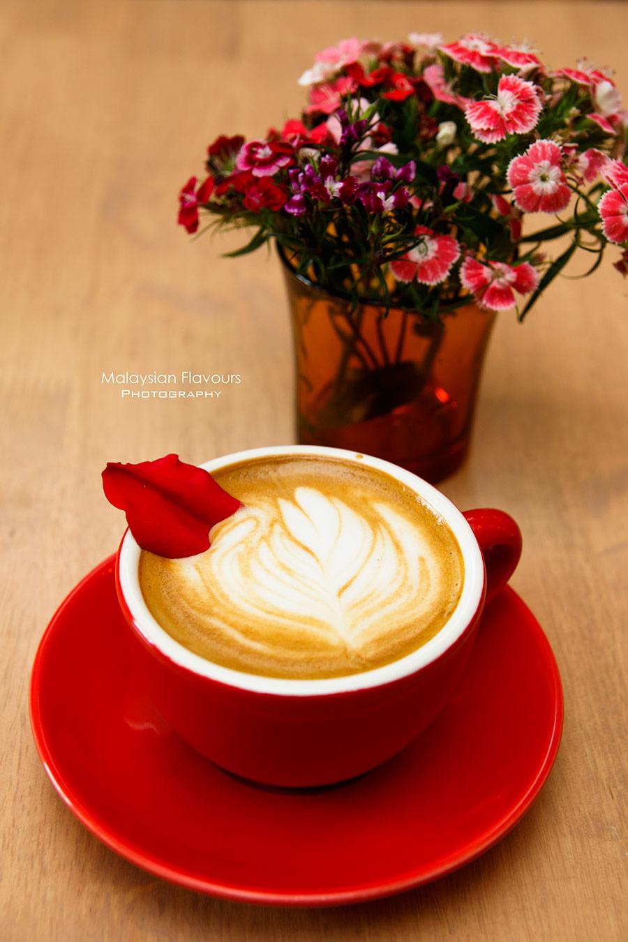 The Pantry KL rose latte