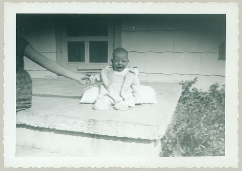 Baby on porch