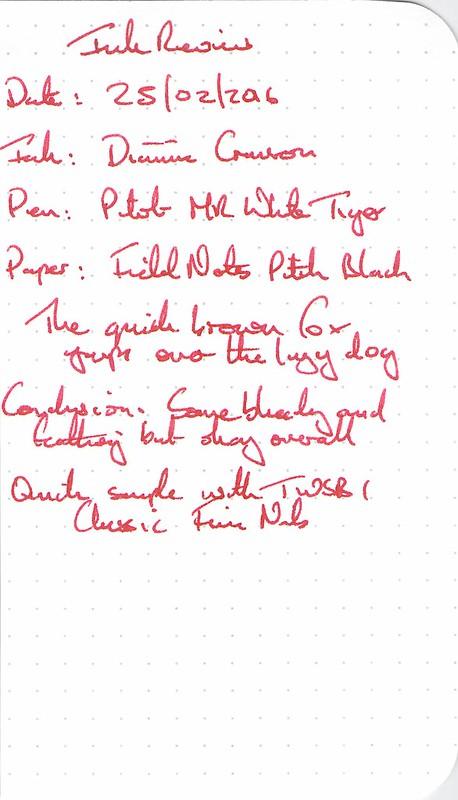 Diamine Crimson - Field Notes
