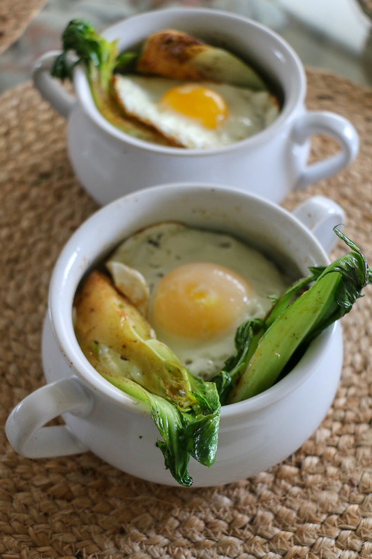 02.28. Minced beef bok with Bok Choy and Fried Egg