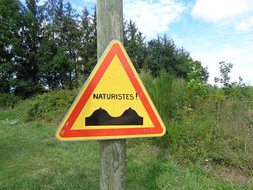 Panneau de domaine naturiste