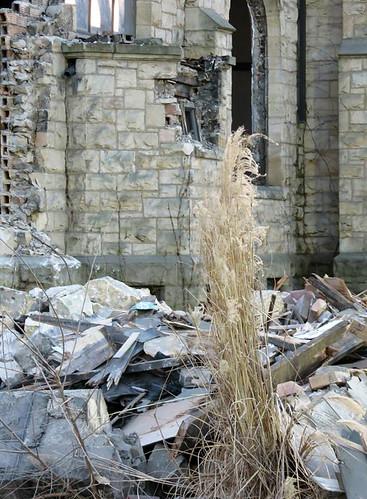Close-up View: Demolition