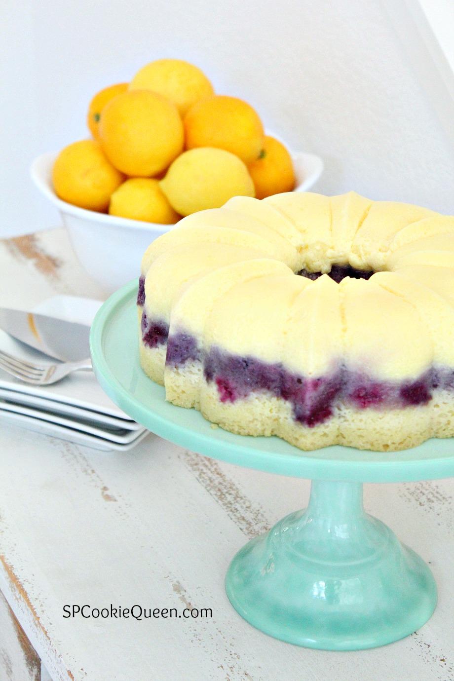 Lemon Blueberry Bundt
