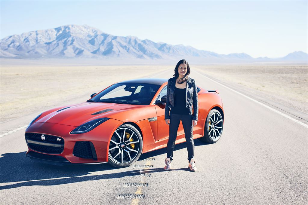 Michelle Rodriguez Pushes 2017 Jaguar F-TYPE SVR to 200 MPH Limit