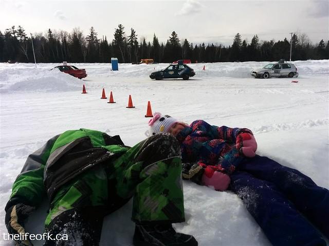 Kids at Ice Racing